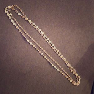 "Stella & Dot 36"" Silver Layering Necklace"